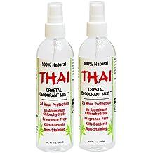 Thai Deodorant Stone Crystal Mist Natural Deodorant Spray 8 oz. Bundle, Pack of 2