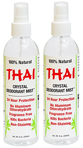 (Thai Deodorant Stone Crystal Mist Natural Deodorant Spray 8 oz. Bundle, Pack of 2)