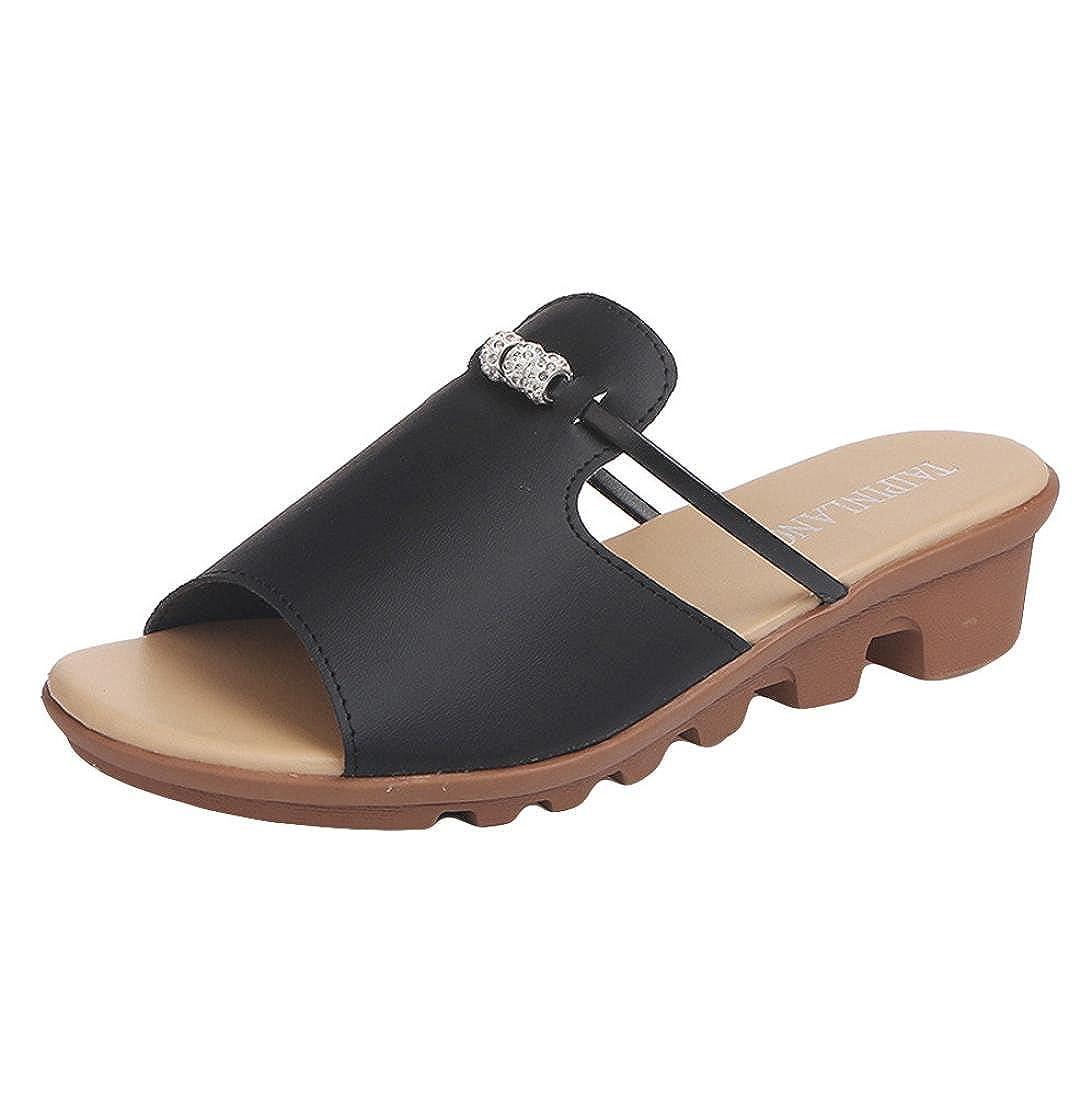 IEason-shoes レディース B07F31MV8S  ブラック 5.5 B(M) US