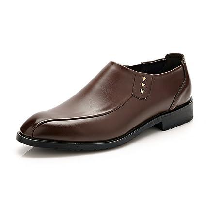 2018 otoño Invierno Zapatos para Hombre, Clásico Formal de Negocios Hombres Mocasines PU Cuero Liso