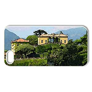 Lake Como Retreat - Case Cover for iPhone 5 and 5S (Houses Series, Watercolor style, White)