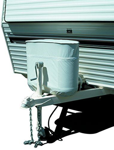 ADCO 2112 White RV Propane Tank - Propane Cover Chrome