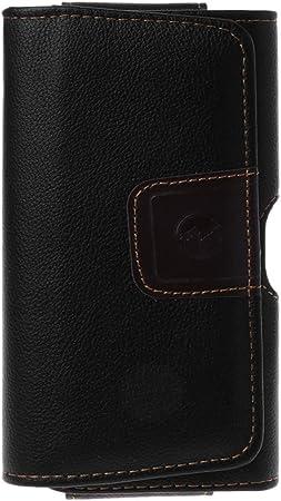 KINTRADE Funda de Cuero Negra Universal con Clip para cinturón Bolsa para teléfono Bolsa de Cintura Estuche para iPhone X 8 7 Plus Accesorios para teléfonos celulares: Amazon.es: Hogar