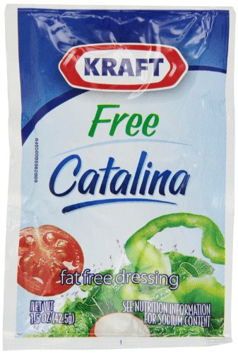 Kraft Catalina Dressing, Fat Free, 1.5-Ounce Pouches (Pack of 60)