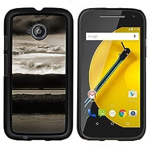 LECELL--Funda protectora / Cubierta / Piel For Motorola Moto E2 E2nd Gen -- Paisaje abstracto --