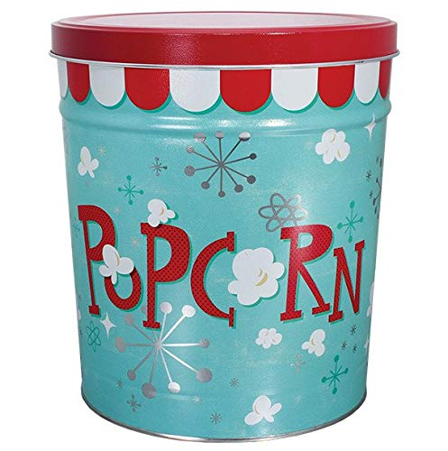 C.R. Frank Popcorn - Gourmet Popcorn Tin, 3.5 Gallon, Popcorn Blast (2 Way, Butter and Caramel) ()