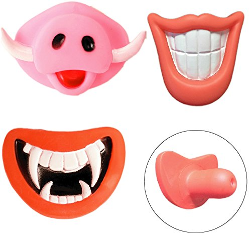 [Kasego Novelty Dog Chewing Toy with Squeak Sound, Funny Teddy Puppy Pet Toy Halloween Gift 3 pcs (3G1)] (Custom Halloween Costumes Nyc)