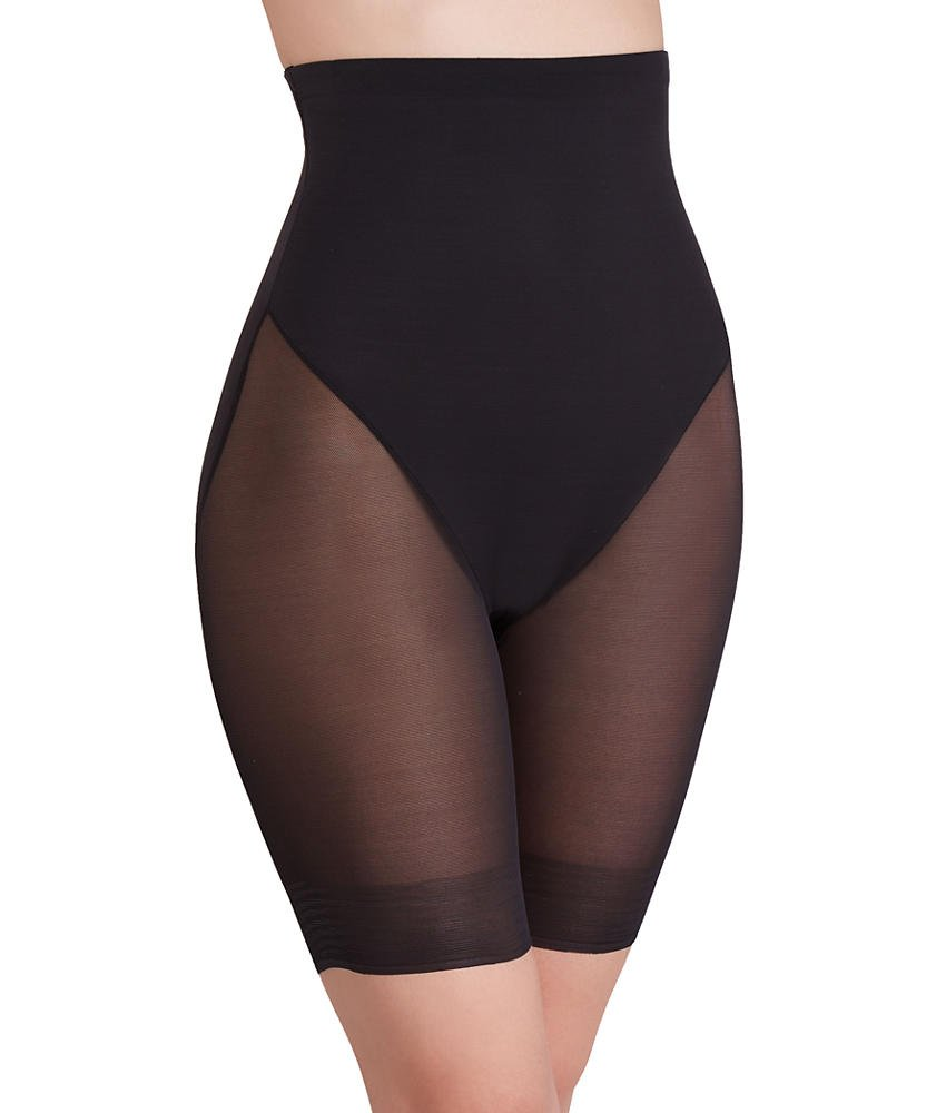 TC Fine Intimates Firm Control High-Waist Thigh Slimmer, M, Black by TC Fine Intimates (Image #1)
