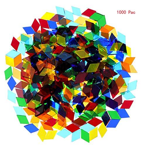 MosaicTilesMixedColorMosaicGlassPiecesforHomeDecorationorDIYCrafts1000PiecesRhombus