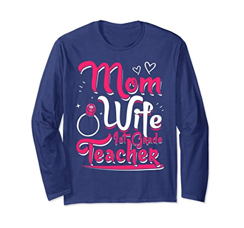 Unisex Mom Wife 1st Grade Teacher T-Shirt Cute Teaching Life Pride Large (Cute Mime Costumes Ideas)