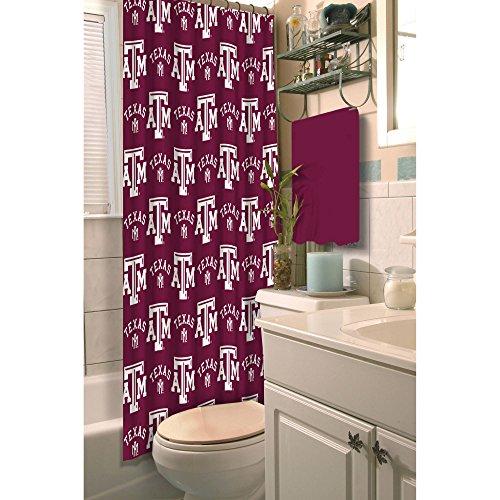 (Texas A&M Aggies Fabric Shower Curtain)