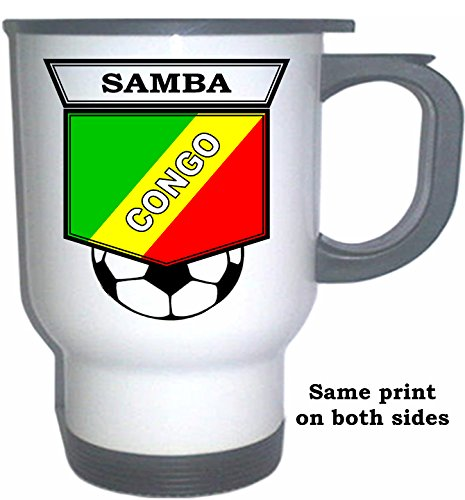 (Christopher Samba (Congo) Soccer White Stainless Steel Mug)