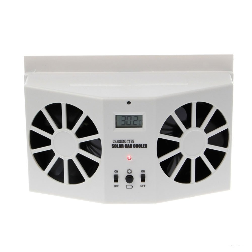 Solar Powered Exhaust Fan Car Gills Car Cooler Auto Ventilation Fan Dual-Mode Power Supply High-Power