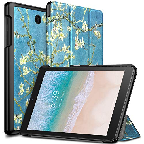 Infiland T-Mobile Alcatel Joy Tab 8/ Alcatel 3T 8 Tablet Case, Tri-Fold Cover Compatible with T-Mobile Alcatel Joy Tab 8-inch 2019 Release/Alcatel 3T 8-inch 2018 Released Tablet, Blossom