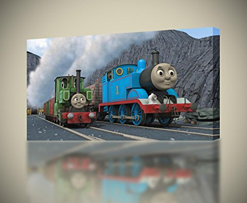 (Thomas The Tank & Friends CANVAS PRINT Wall Art Decor Giclee4 Sizes CA135, Regular)