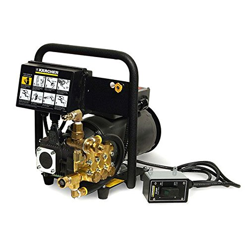 Karcher HD 2.0/14 ED + Wall-Mounted Electric-Powered Cold Water Pressure Washer, 2.0 GPM, 1,400 psi, Black/Gold