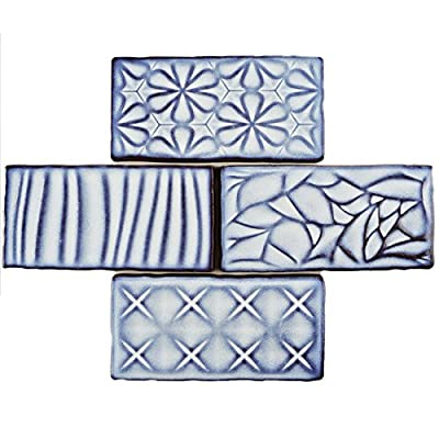 "SomerTile WCVASNV Antigue Sensations Ceramic Wall Tile, 3"" x 6"", Via Lactea"