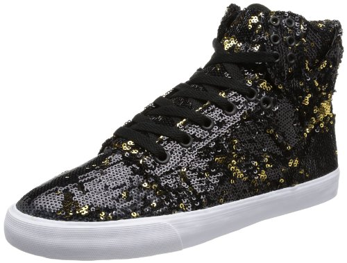 Supra Mujeres Skytop Black / Gold-uk 3