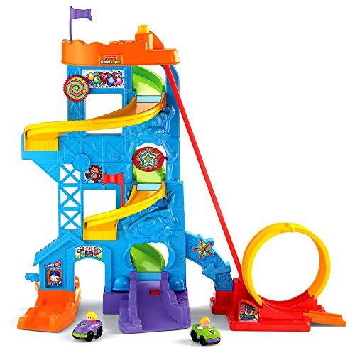 Fisher-Price Little People Loops 'n Swoops Amusement Park [Amazon Exclusive] (Car Ramp Toy)