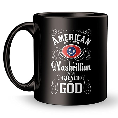 Nashville Mug - Tennessee City Super Cool Funny and Inspirational Gifts 11 oz ounce White Ceramic Tea Cup - Ultimate Travel Gear Novelty Present Sweets Holder - Best Joke Fun - West Knoxville Town Mall