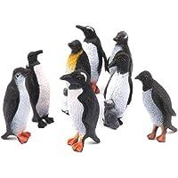 Holibanna 8 Piezas Figuras de Pingüinos Modelos Juguetes Pingüinos Realistas Estatuilla Animal Marino de Plástico para…
