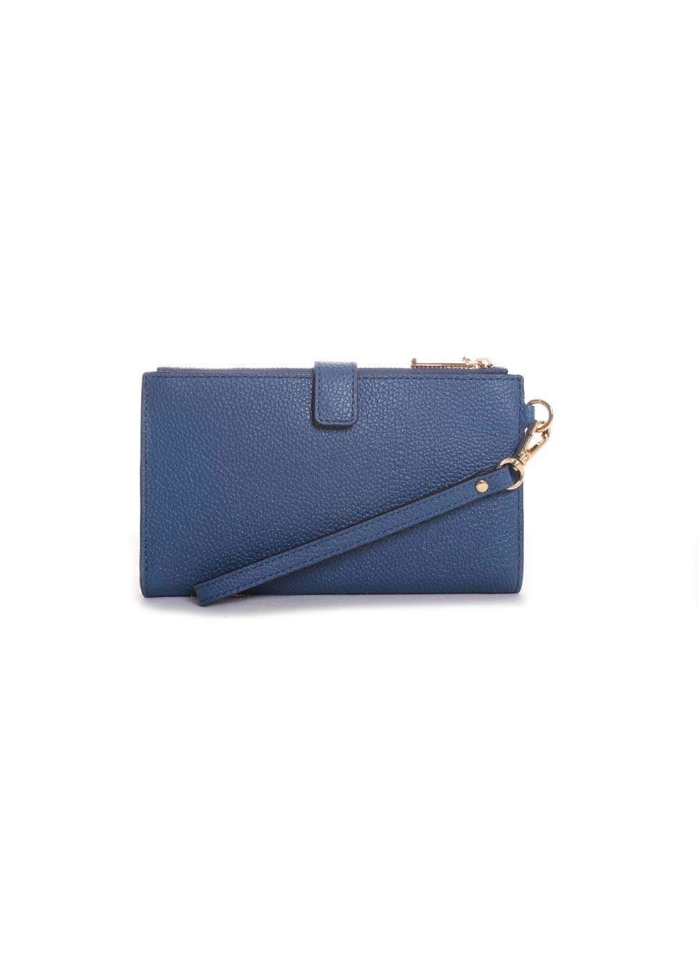 Michael Kors Double Zip Leather Wristlet in Dark Chambray by Michael Kors (Image #3)