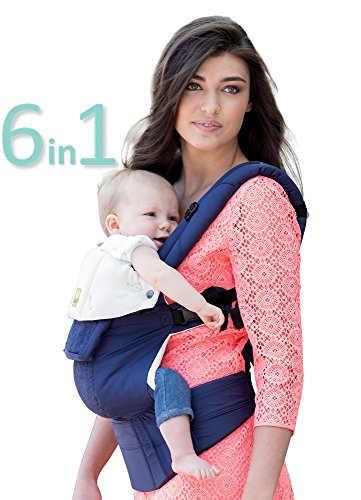 Image of the LÍLLÉbaby The COMPLETE Embossed SIX-Position 360° Ergonomic Baby & Child Carrier, Blue - Baby Carrier, Ergonomic Multi-Position Carrying for Infants Babies Toddlers