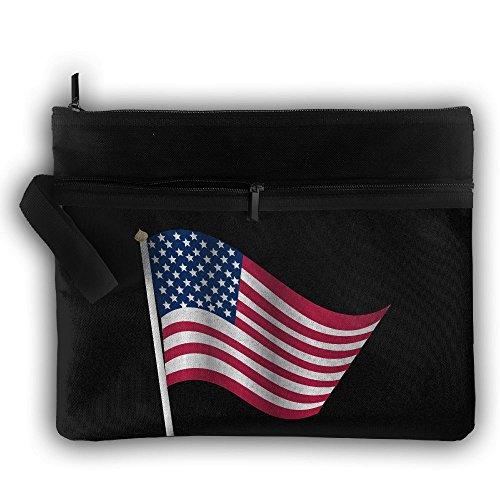 American Flag Multifunction Storage Bag Buggy Bag Travel Cos