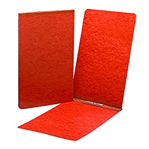 "Smead PressGuard Binder Cover, Metal Prong with Compressor, Top Fastener, 350 Sheets/3"" Capacity, 11"" x 17"", Red, 10 per Box (81778)"