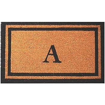 Envelor Doormat Outdoor Welcome Coir Monogrammed Non Slip Personalized Shoe Scraper Floor 18 x 30 Inches Door Mat