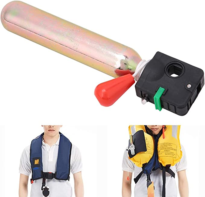 Metal Air Cylinder Tank Inflator Device Inflatable Life Jackets Accessory Golden