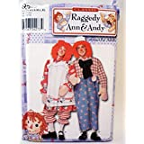 Simplicity 9370 - Adult Raggedy Ann & Andy Costume Pattern Couples Size: XS S M L XL