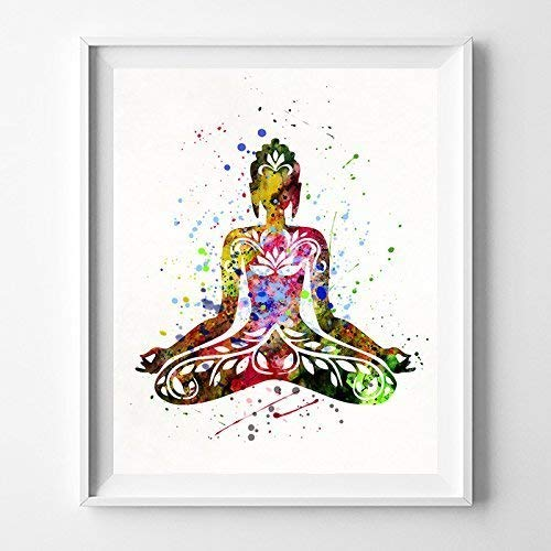 Buddha Watercolor Art Print Baby Gift Nursery Poster Kids Room Boy Wall Art  Girl Children Gift Playroom Decoration Bedroom Home Decor Artwork   Unframed