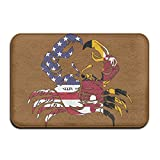 America Maryland Flag Crab Indoor Outdoor Entrance Rug Non Slip BathMats Doormat Rugs For Home