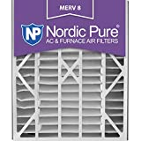 Nordic Pure 20x25x5 (4-7/8 Actual Depth) MERV 8 Trion Air Bear Replacement Pleated AC Furnace Air Filter, Box of 1