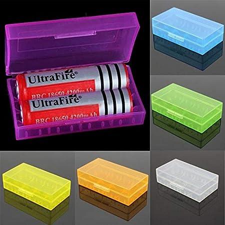 Alecony - Caja de plástico para pilas CR123A/LIR123A/123A/16340/17335/18650, práctica caja para protección y transporte, caja para batería Tamaño libre Blanco: Amazon.es: Hogar