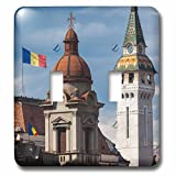 Danita Delimont - Romania - Romania, Transylvania, Targu Mures, Cathedral and Building roofs - Light Switch Covers - double toggle switch (lsp_227886_2)