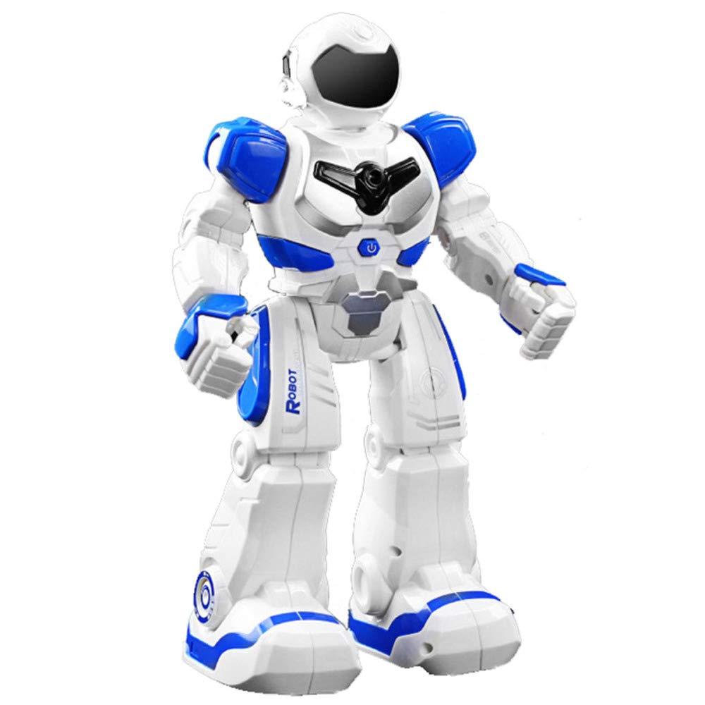 aquí tiene la última azul SJHFDICKJFIF RC RC RC Inteligente Juguete Robot,LED Programable Caminar Deslizarse Bailar Cantar Gesto Control,Batería ReCochegable Juguetes Niños,Regalo-16.5  9  26.5cm,azul  el mejor servicio post-venta