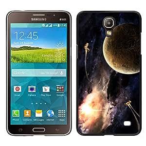 Bronce antiguo de la Tierra - Metal de aluminio y de plástico duro Caja del teléfono - Negro - Samsung Galaxy Mega 2