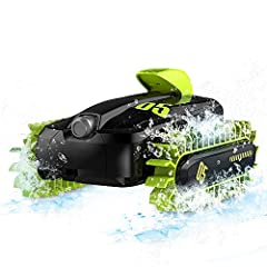 Features: amphibious function freely switch between land and water amphibious. Easy to switch between water and land mode with one button. 360 degree spinning & Flip drive as you want, double side can be driven. speed: 20km/ H playing tim...