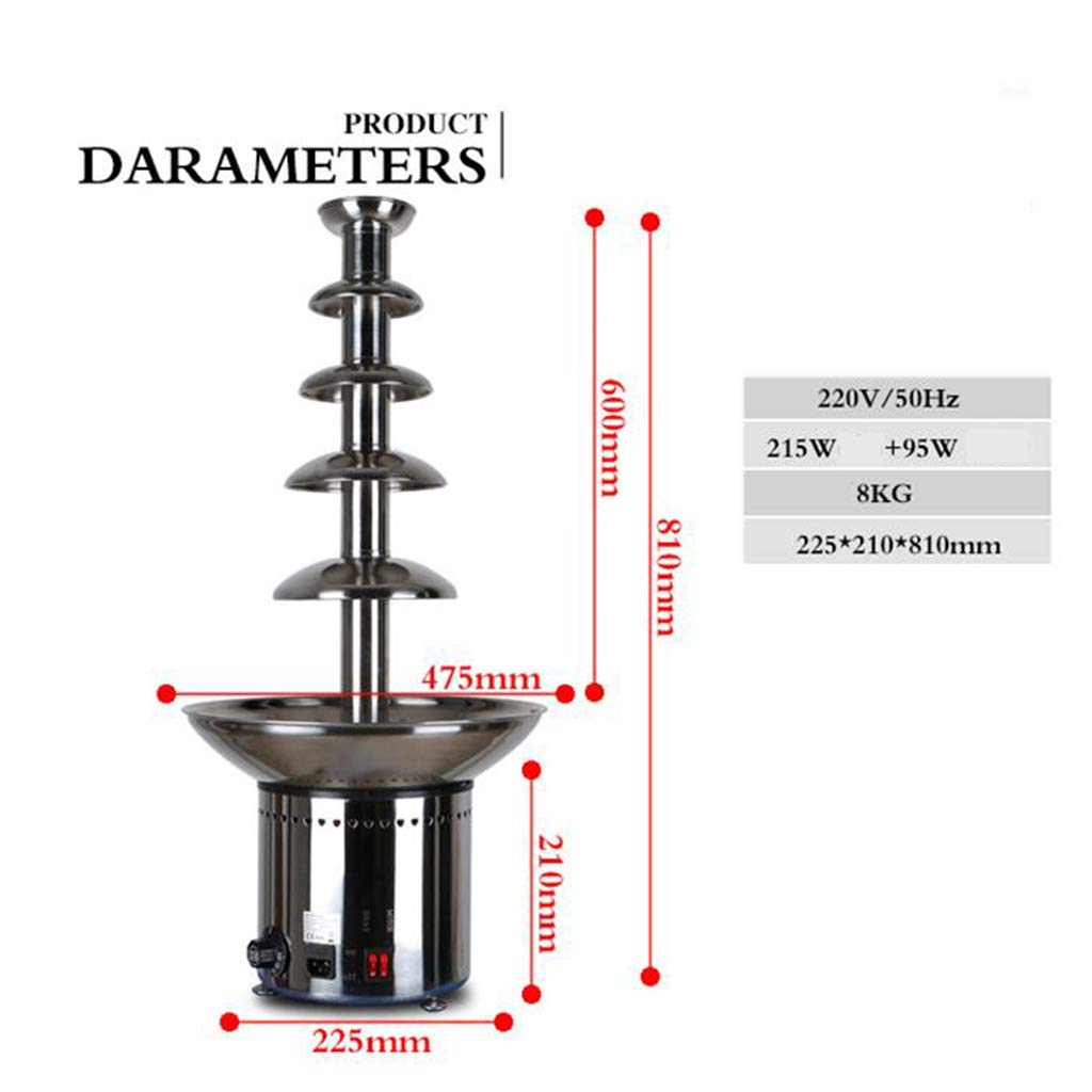 Socean Commercial chocolate fountain, waterfall machine five-layer spray tower automatic temperature control stainless steel kettle fountain waterfall. by Chocolate Fountain (Image #3)