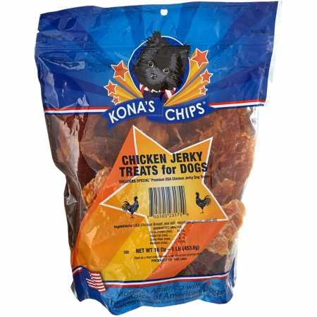 Kona'S Chips Chicken Jerky; Dog Treats Made In Usa Only - 100% Usda Chicken, Chemical And Grain Free. All Natural, Healthy & Safe Treats For Your Dog. 1 Lb Bag by KONA'S CHIPS