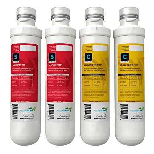 AQUATIC LIFE TWIST-IN ANNUAL REPLACEMENT PACK CARTRIDGES, 2 SEDIMENT + 2 CARBON