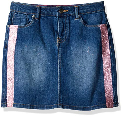 (Calvin Klein Girls' Big Skirt, Denim Shimmer 5)