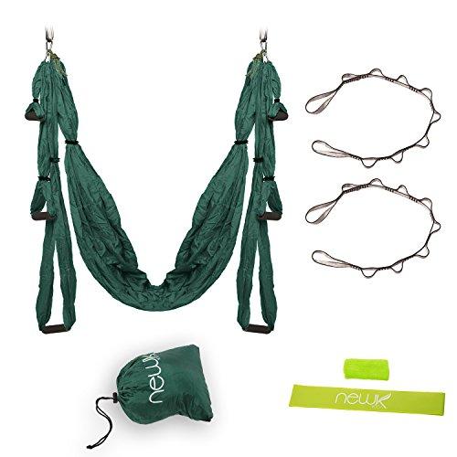 Yoga Swing - Yoga Hammock for Yoga Exercise - Green/Yellow/Orange