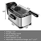 COSYWAY Deep Fryer, 1700W Electric Stainless