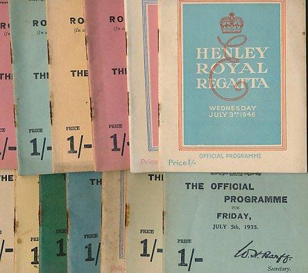 Regatta Henley (Henley Royal Regatta. The Official Programme for Thursday, July 4th, 1935. Second day)