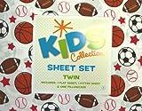 Kids Collection Sports Balls Twin Sheet Set 100% Soft Polyester