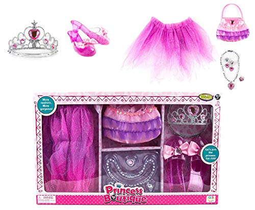 Toysery Princess Boutique Set - Set Includes - Dress, Jewelry and Shoes, Safe for Kids - Imaginative Play for Girls - Ultimate Fun for Kids