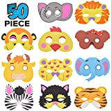 50 Piece Assorted Foam Animal Purim Masks Halloween masks Dress-Up Party Accessory